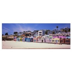 Houses On The Beach, Capitola, Santa Cruz, Califor Framed Print